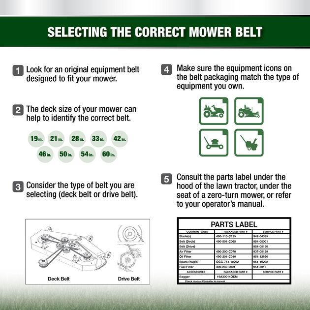 Garden Tiller Belt Kit