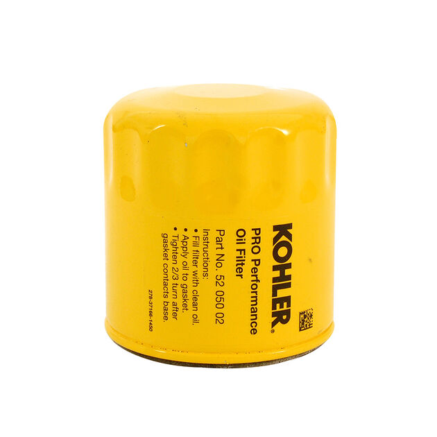 Kohler Part Number 52-050-02-S. Oil Filter (Short) - Yellow