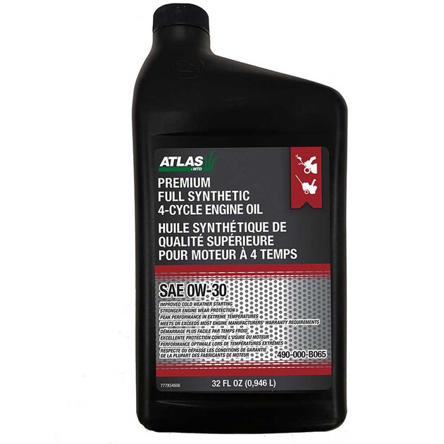 Atlas 0W-30 Synthetic 4-Cycle Snow Blower Oil