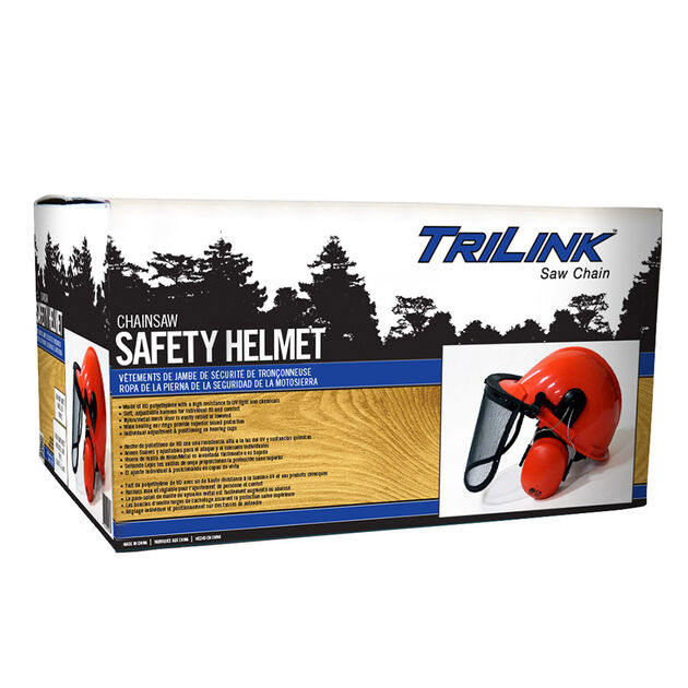 TriLink Saw Chain Safety Helmet with Ear Muffs and Visor