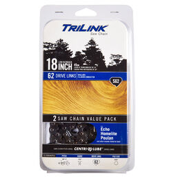 TriLink 18-inch Saw Chain S62- 2 Pack