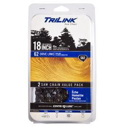 TriLink 18-inch Saw Chain S62- 2 Pack